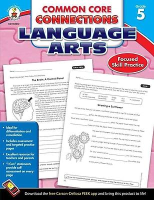 Carson Dellosa Common Core Connections Language Arts Workbook, Grades 5