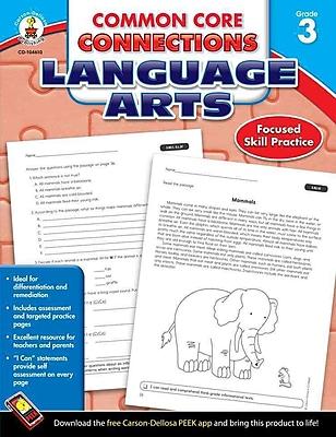 Carson Dellosa Common Core Connections Language Arts Workbook, Grades 3