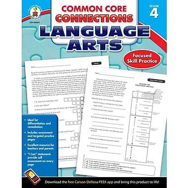 Carson Dellosa Common Core Connections Language Arts Workbook, Grades 4
