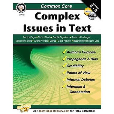 Carson Dellosa Common Core: Complex Issues in Text Resource Book