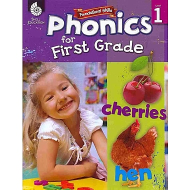 Shell Education Phonics for First Grades Book, Grades 1