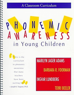 Brookes Publishing Co Phonemic Awareness in Young Children Book