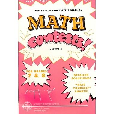 Mathematics Leagues 2 Vol. Math Contests Book, Grades 7 - 8