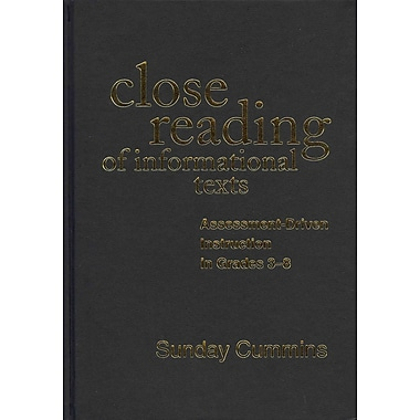 Guilford Press Close Reading of Informational Texts Hardback Book