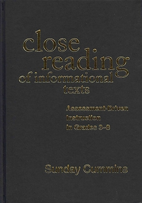 Guilford Press Close Reading of Informational Texts Hardback Book
