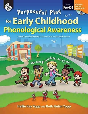 Shell Education Purposeful Play for Early Childhood Phonological Awareness Book, Grades PreK - 1