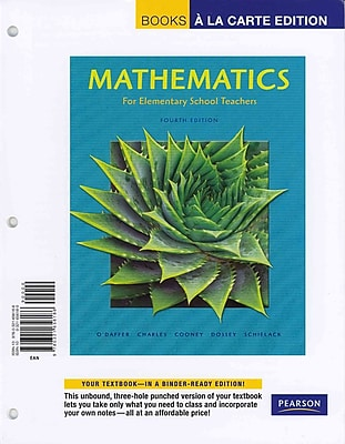 Pearson Mathematics for Elementary... Books a la Carte Edition with MyMathLab/MyStatLab Book