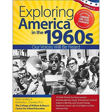 Sourcebooks Exploring America in the 1960s Book, Grades 6 - 8