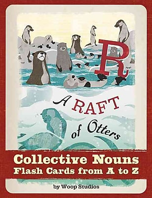Chronicle Books A Raft of Otters: Collective Nouns Flash Cards from A to Z Book