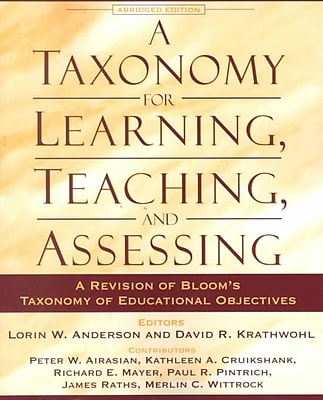Pearson A Taxonomy for Learning, Teaching, and Assessing Book