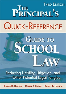 Corwin The Principal's Quick-Reference Guide to School Law Book