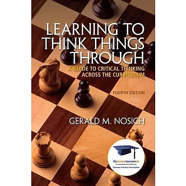 Pearson Learning to Think Things Through Book