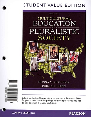 Pearson Multicultural Education in a Pluralistic Society Student Value Edition Book