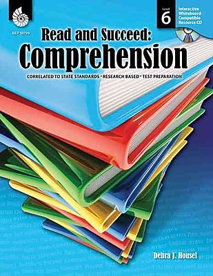 Shell Education Read and Succeed: Comprehension Book, Grades 6