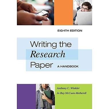 Cengage Learning® Writing the Research Paper Book