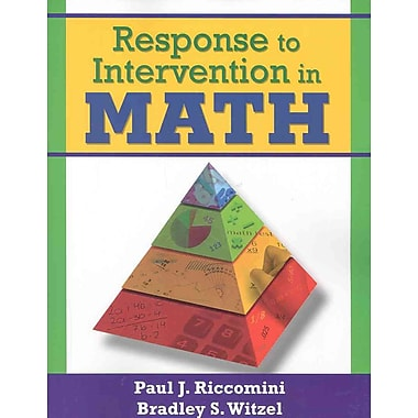 Corwin Response to Intervention in Math Book, Grades PreK - 12