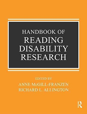 Taylor & Francis Handbook of Reading Disability Research Book