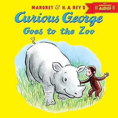 Curious George Goes to the Zoo Book With Downloadable Audio