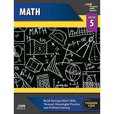 Houghton Mifflin Harcourt Core Skills Mathematics Workbook, Grade 5