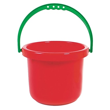 American Educational Products Sand And Water Toy Large Bucket, Red (AEPYTSI417)