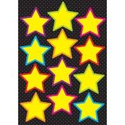 "Ashley 8 1/2"" x 11"" Die-Cut Magnet, Yellow Stars"