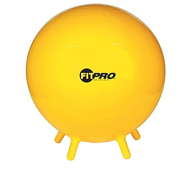 Champion Sports® 65 cm Fitpro Ball With Stability Legs, Yellow
