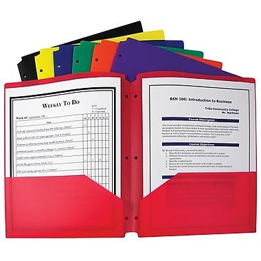 C-Line Two Pocket Portfolio with Three-Hole Punch, Assorted, 36/Box
