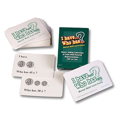 Learning Advantage™ I Have.. Who Has? Money with....50¢ or less Math Card Game