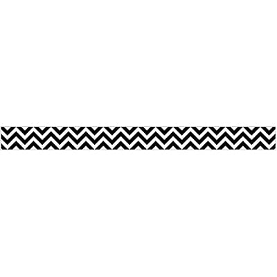 Creative Teaching Press® Toddler - 12th Grade Border, Black Chevron, 12/Pack