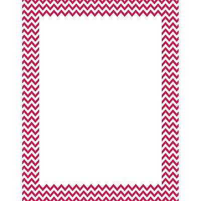 Creative Teaching Press® Poppy Red Chevron Poster Chart, Grades All