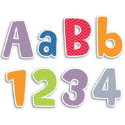 """Creative Teaching Press® 4"""" Punch-Out Designer Letter, Chevron Solids"""