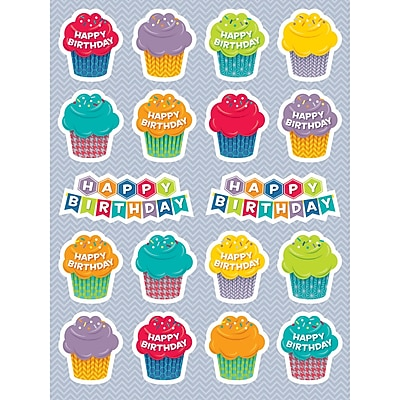Creative Teaching Press® HexaFun Sticker, Happy Birthday
