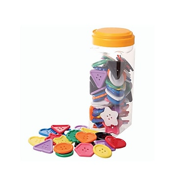 Learning Advantage CTU7173 Assorted Buttons, 100/Pack