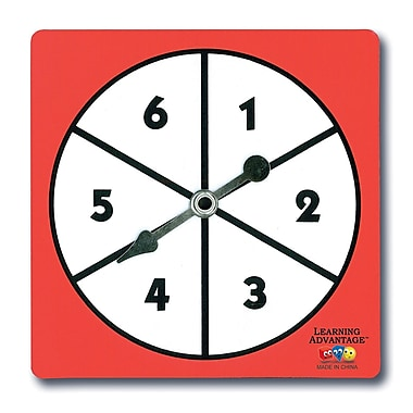 Learning Advantage 1-6 Number Spinners, 5/Pack (CTU7347)