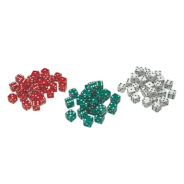 Learning Advantage Red, Green & White Dot Dice Game, 36/Pack, 36/Pack (CTU7366)