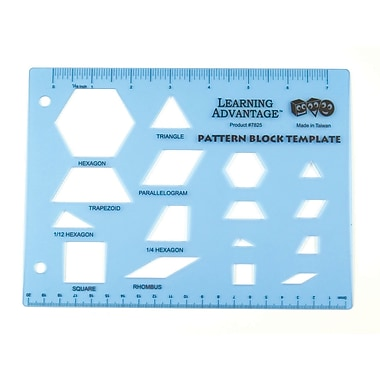 Learning Advantage™ Pattern Block Template
