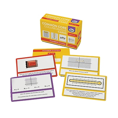 Didax® Common Core Collaborative Flash Card, Number System