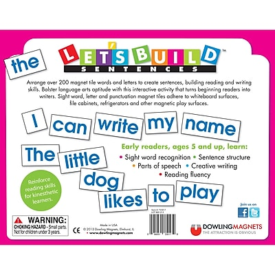 Dowling Magnets Let's Build Sentences Playboard