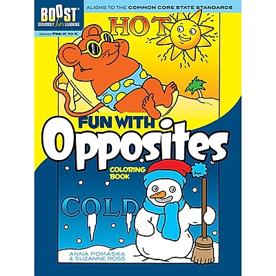Dover® Boost™ Fun With Opposites Coloring Book