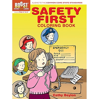 Dover® Boost™ Safety First Coloring Book