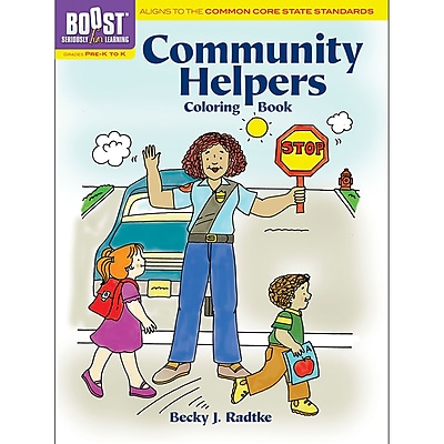 Dover® Boost™ Community Helpers Coloring Book