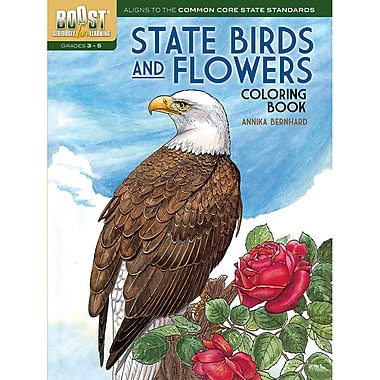 Dover Boost State Birds And Flowers Colouring Book (DP-494381)