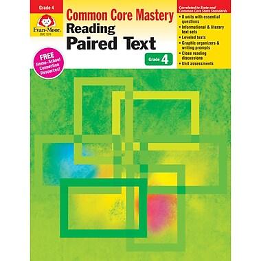 Evan-Moor – Livre d'activités « Reading Paired Text: Common Core Mastery », 4e année (EMC1374)