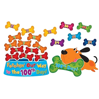 Edupress® Bulletin Board Set, Let's Fetch Our Way to the 100th Day!