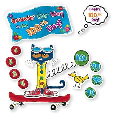 Edupress® Pete the Cat® Bulletin Board Set, 100 Groovy Days of School