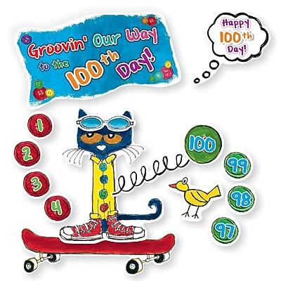 Edupress® Pete the Cat® Bulletin Board Set, 100 Groovy Days of School, 108/Pack