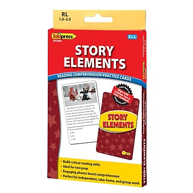 Edupress® Story Elements Reading Comprehension Practice Card, Yellow