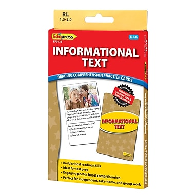 Edupress® Informational Text Reading Comprehension Practice Card, Yellow
