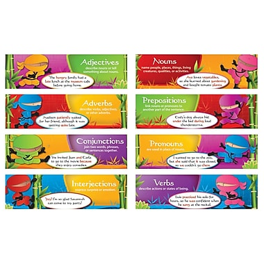 Edupress® Mini Bulletin Board Set, Parts of Speech Ninjas