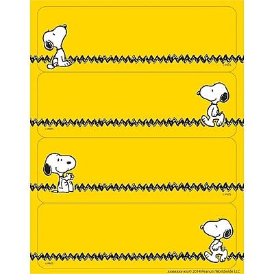 Eureka® Label Sticker, Peanuts® Yellow